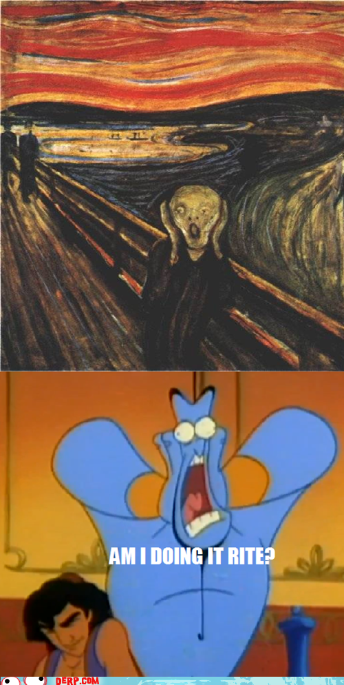 aladdin,cartoons,disney,genie,Movies and Telederp,The Scream