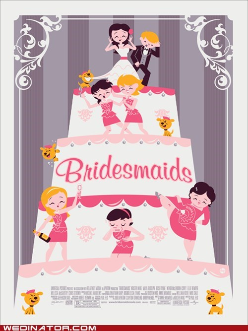 bridesmaids,cinema,funny wedding photos,movies,poster