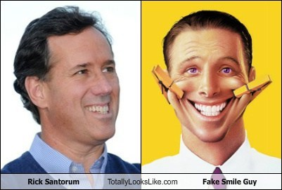 fake smile guy,funny,Hall of Fame,Rick Santorum,TLL