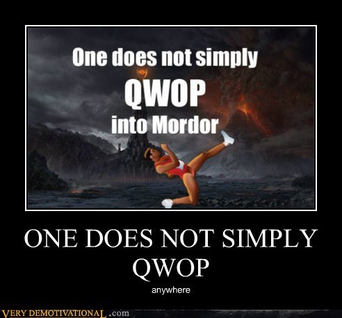 anywhere hilarious mordor QWOP - 5897843968