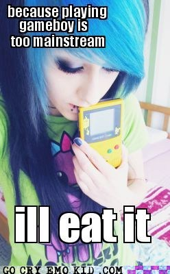 food gameboy pikachu scene girl weird kid - 5898209792