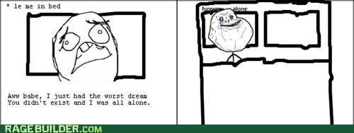 dream,forever alone,Rage Comics,sleep