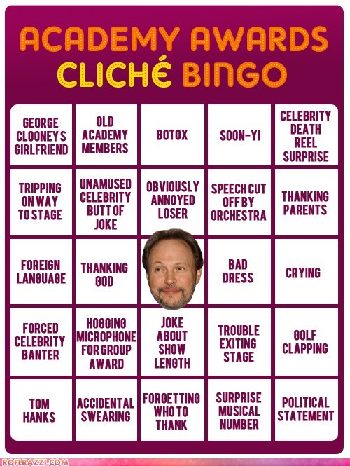 academy awards bingo Hall of Fame oscars - 5898658560