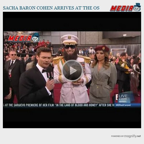 oscars,Ryan Seacrest,sacha baron cohen,the dictator