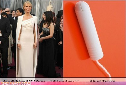 academy awards fashion gwyneth paltrow look alikes oscars tampon tampons - 5898833152