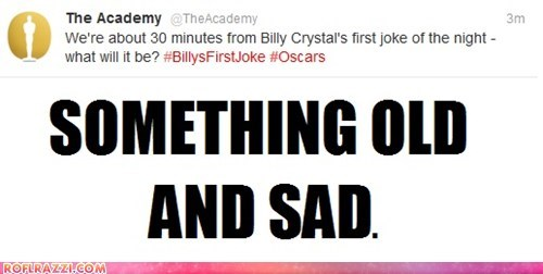 academy awards Billy Crystal hosts old oscars Sad something old and sad the academy tweets - 5898834432