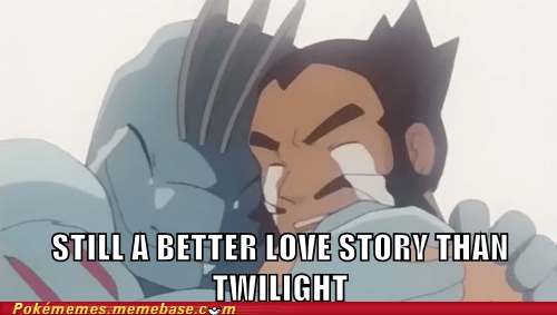 better love story than twilight machoke meme Memes - 5898840576