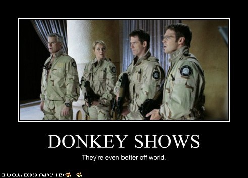 DONKEY SHOWS They're even better off world.