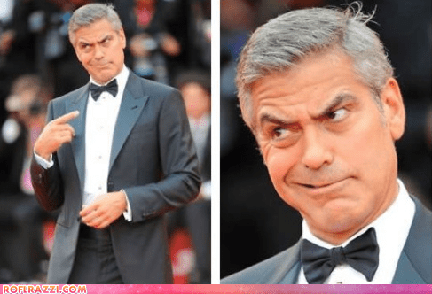 academy awards derp derping george clooney oscars red carpet the descendants - 5898960128