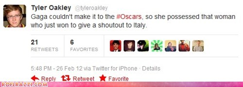 academy awards italian Italy lady gaga oscars twitter - 5899031808