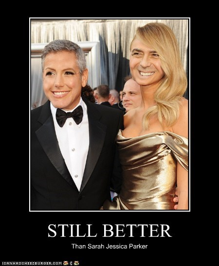 academy awards face swap george clooney oscars red carpet Stacy Keibler - 5899174656