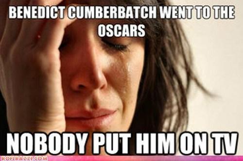 academy awards actor benedict cumberbatch funny meme oscars - 5899212032