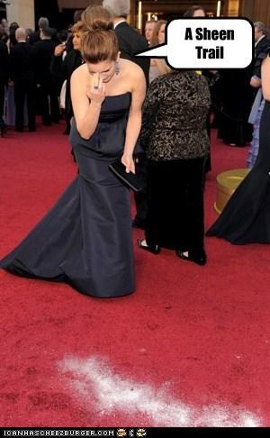 academy awards ashes Charlie Sheen coke drugs Kim Jong-Il oscars red carpet sacha baron cohen tina fey - 5899367680