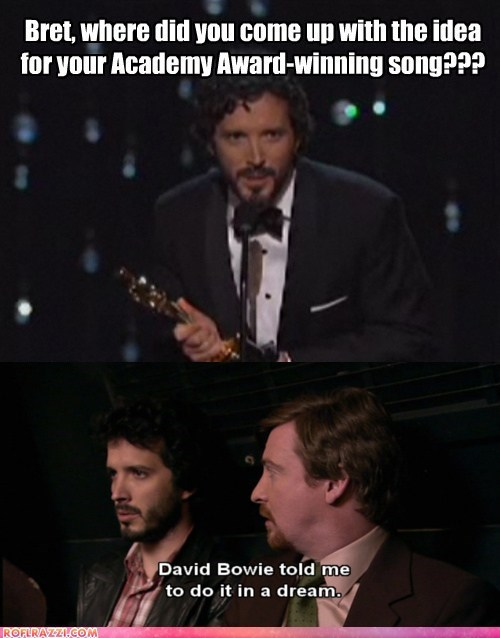 academy awards Bret McKenzie david bowie flight of the conchords oscars winners - 5899451392