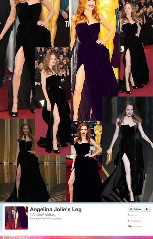 academy awards,Angelina Jolie,legs,oscars,twitter
