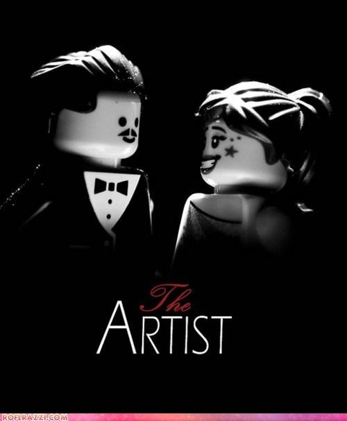 academy awards,Awards,directors,lego,legos,Michel Hazanavicius,oscars,the artist