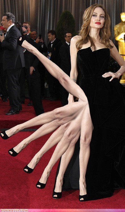 academy awards,Angelina Jolie,legs,oscars,photoshopped,spiderlina,spiders,wf