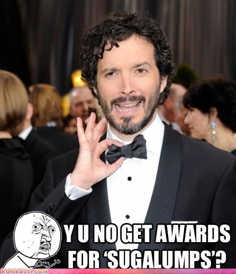 academy awards,Bret McKenzie,celeb,funny,meme,oscars,Y U NO
