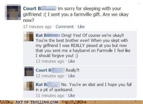 apology facebook Farmville relationships