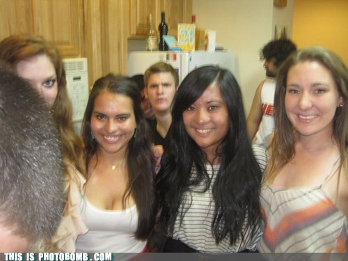 a lot going on blurry Good Times Inception photobomb