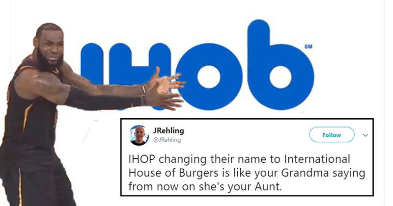 Funny twitter reactions to International house of pancakes (ihop) changing name to ihob.