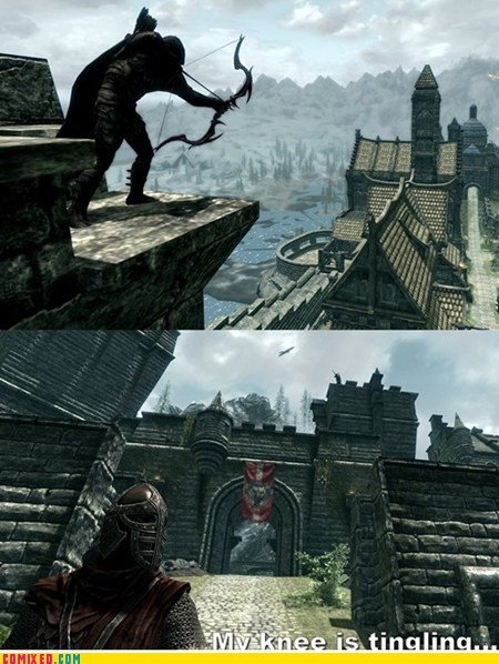arrow to the knee Skyrim video game video games - 5901372928