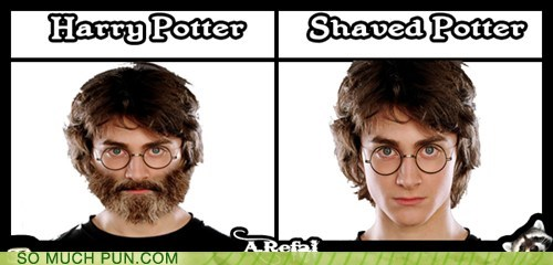 after,before,double meaning,hairy,Hall of Fame,Harry Potter,homophone,literalism,shaved