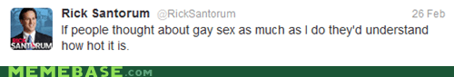 homosecks,Santorum,tweet