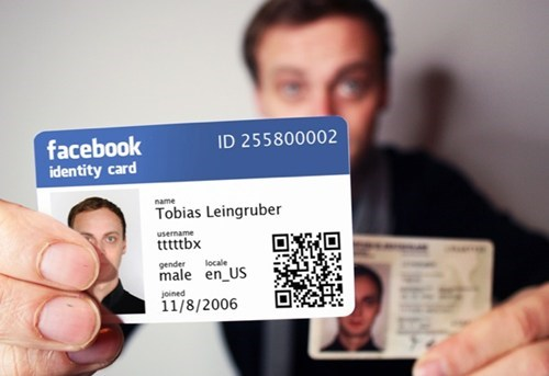 facebook ID card identification IRL Tech - 5901935360