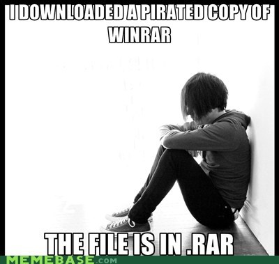 bad pun,emolulz,First World Problems,winner,WINRAR
