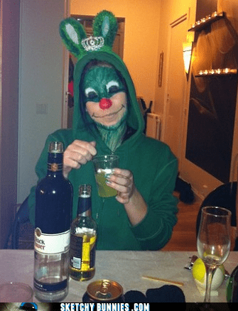 alcohol booze Party sketchy bunnies St Patrick's Day - 5902049536
