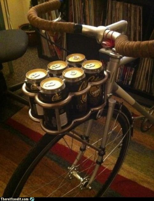 beer,bicycle,six pack