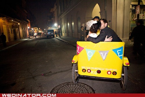 bicycle taxi bride funny wedding photos groom KISS - 5902136576