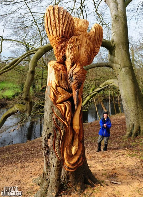art bird carving design tree - 5902438912