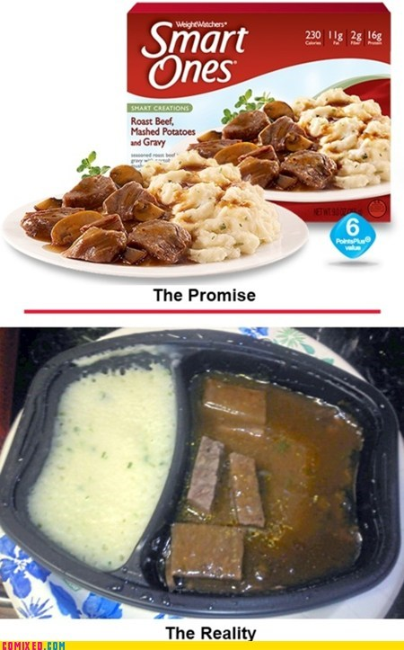 advertising false advertising food reality smart ones tv dinners