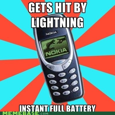 battery electricity Memes nokia power - 5902631680
