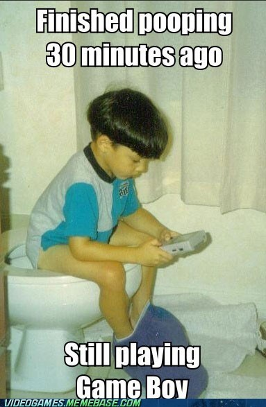 game boy meme playing time poop toilet - 5902722560