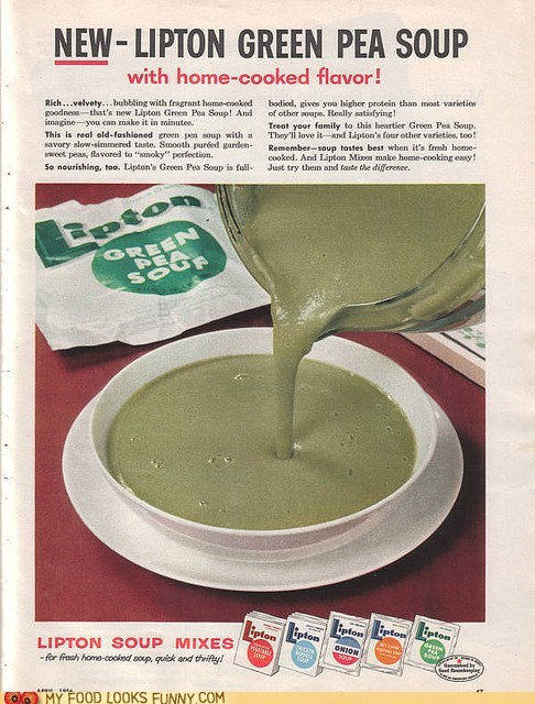 green instant lipton mix pea soup