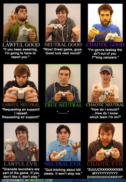 alignment dnd IRL meme video games xbox - 5902787072