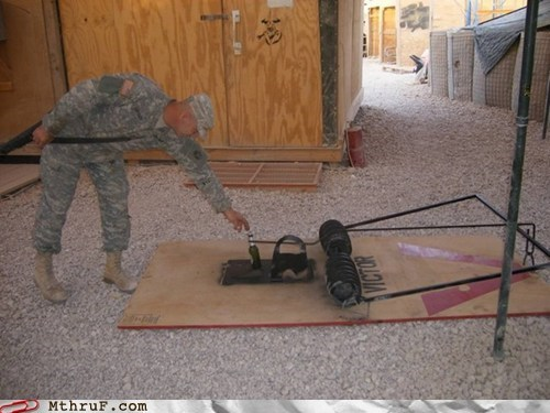 beer military mousetrap trap soldier