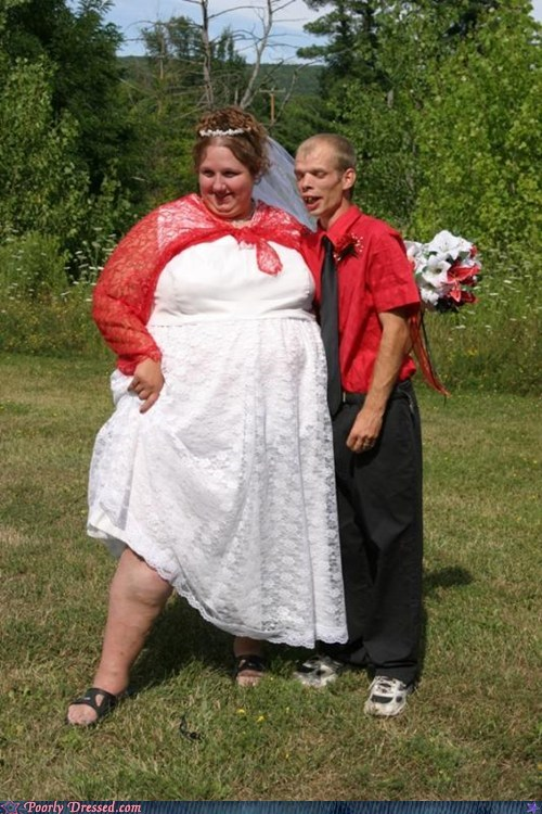 fat marraige married red skinny