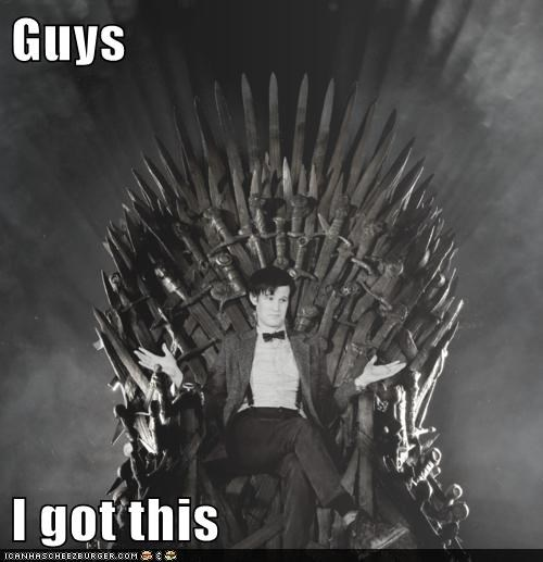 best of the week doctor who guys i got this iron throne Matt Smith the doctor Westeros - 5902858752