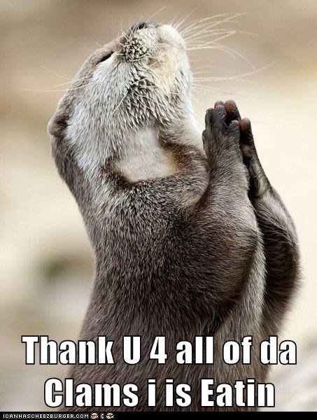 clams,eat,eating,food,otter,prayers