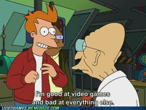 futurama hand-eye coordination meme reflexes video games - 5902950400