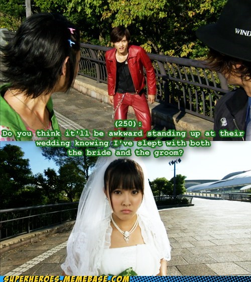 bride groom kamen rider Super-Lols wedding wtf - 5902983680