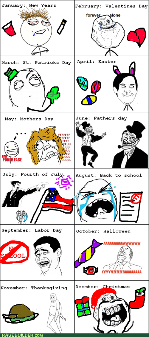 forever alone fu gal holiday Rage Comics - 5903023872