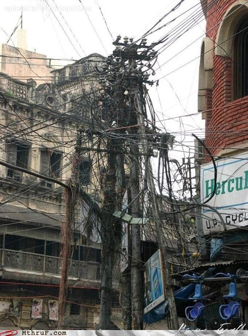 Hercules india power line power outage wiring