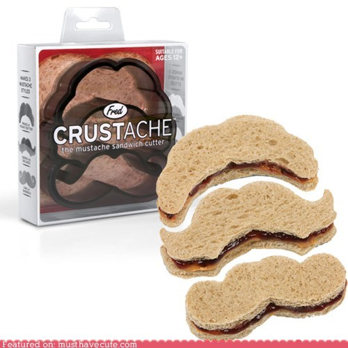 bread crustless cutter mustache sandwich - 5903144960