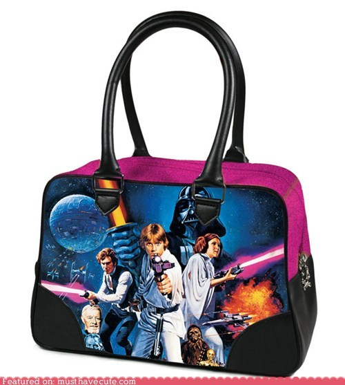 accessories,best of the week,characters,design,graphic,handbag,purse,star-wars-poster