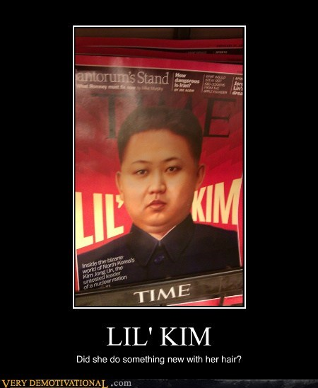 hair,hilarious,kim jong-un,lil kim,time